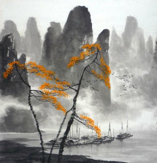 Poésie estampe nature peintre